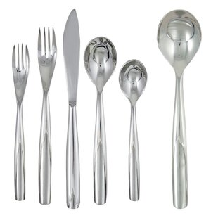 Charlie 42 Piece 18/10 Stainless Steel Flatware Set, Service for 8