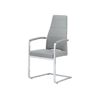 Whiteline Imports Ville Dining Arm Chair (Set of 2)
