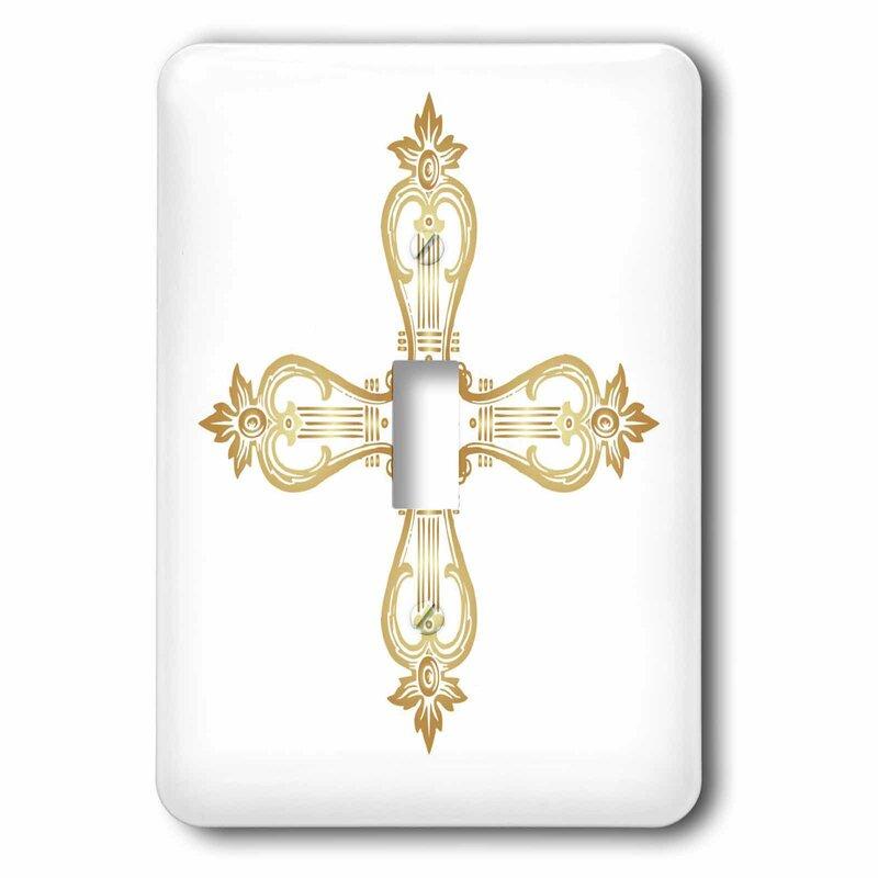 3drose Ornate Cross 1 Gang Toggle Light Switch Wall Plate Wayfair