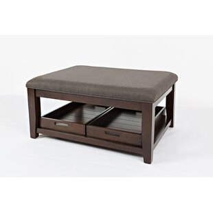 Ellerkamp Fabric Upholstered Ottoman Coffee Table with Storage