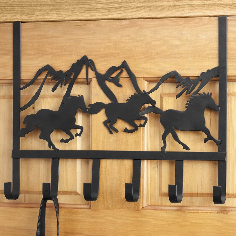 Miles Kimball 6 Hook Overdoor Organizer Wall Mounted Coat Rack ...