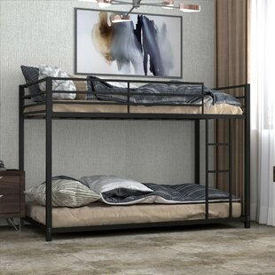 Clouser Metal Twin over Twin Bunk Bed