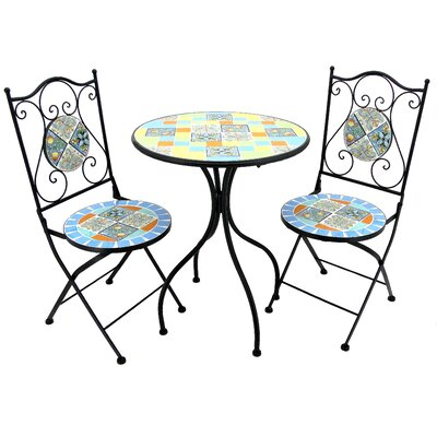 Glassman 3 Piece Bistro Set by Fleur De Lis Living Comparison