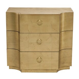Jet Set 3 Drawer Bachelor's Chest by Bernhardt