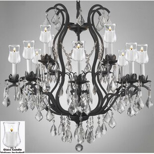 Astoria Grand Alvan 12-Light Black Candle..