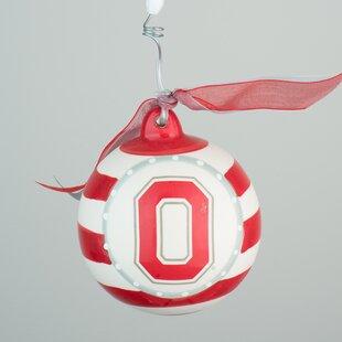Ohio State Stripe Ball Ornament ByGlory Haus