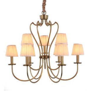 House of Hampton Creissant 9-Light Shaded Chandelier