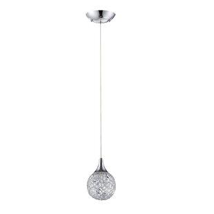Hoban 1-Light Globe Pendant by Orren Ellis
