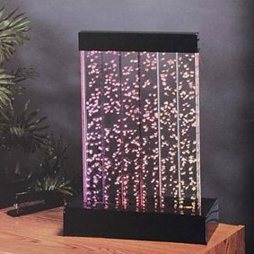 Acrylic Water Panel Fountain with Light Midwest Tropical Fountain Size: 1.5'H (0.75 Gallons)