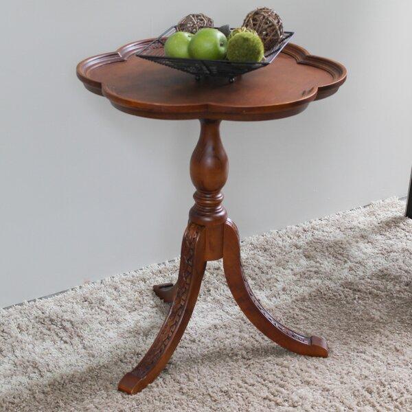 Carved Wood Side Table | Wayfair
