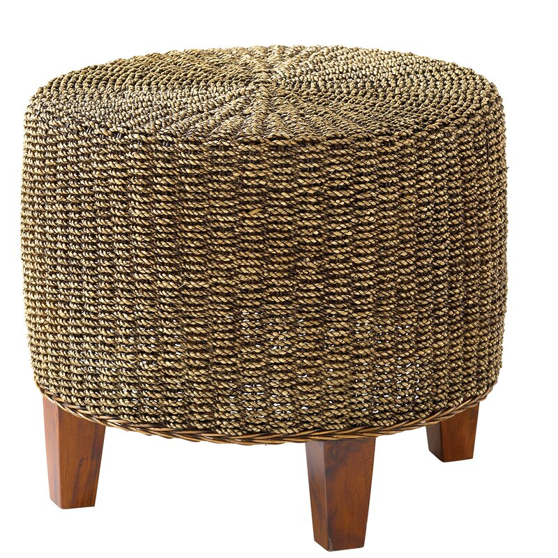 Superb Round Seagrass End Table