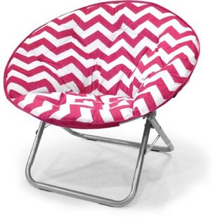 Cartwright Chevron Saucer Chair by Trule Teen