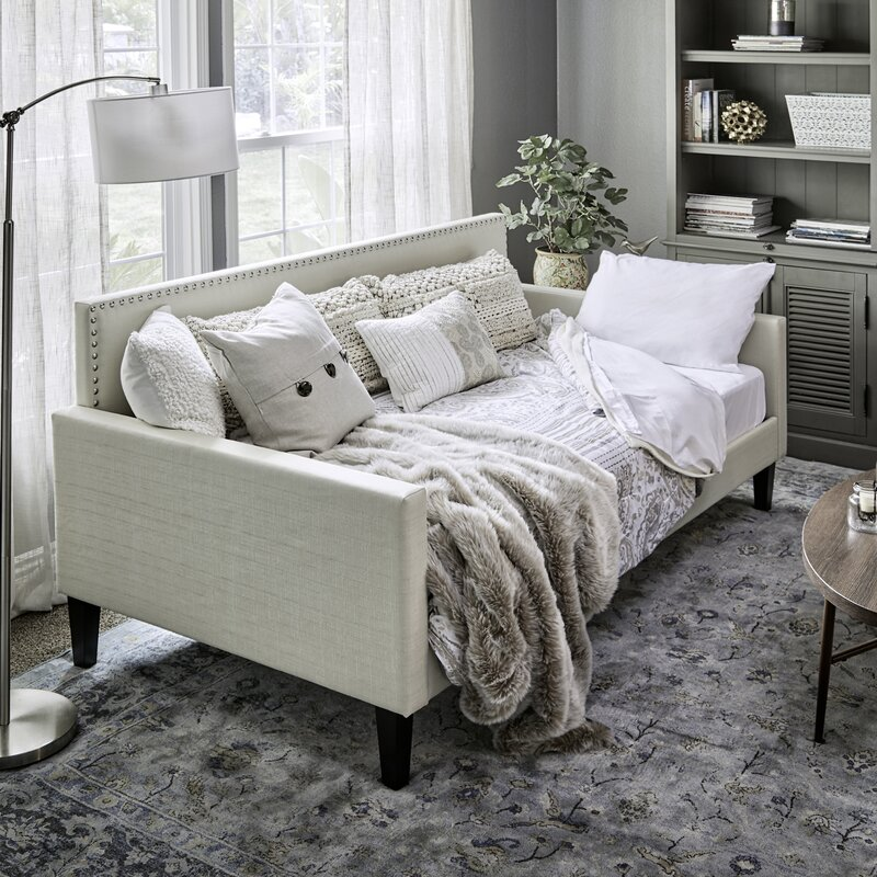 Wrought Studio Guizar Back Twin Daybed