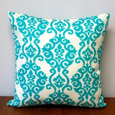 Damask Outdoor Throw Pillow Artisan Pillows