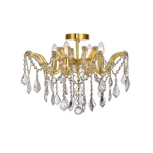 House of Hampton Regina 4-Light Semi Flush Mount