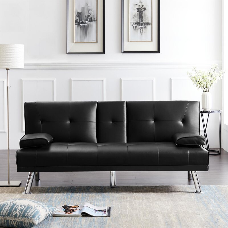 Latitude Run Twin 66 2 Tufted Back Convertible Sofa Wayfair