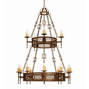 2nd Ave Design Toscano 15-Light Wagon Wheel Chandelier