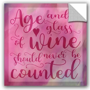 Cora Niele Age And Wine Removable Wall Decal
