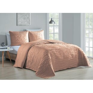 Harlowe 3 Piece Reversible Quilt Set by House of Hampton Discount