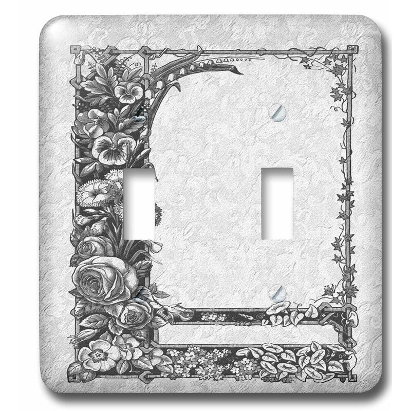 3drose sienna floral trellis design on a peach damask background 2 gang toggle light switch wall plate wayfair wayfair