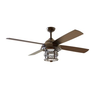56 Concetta 4 Blade LED Ceiling Fan with Remote, Light Kit Included