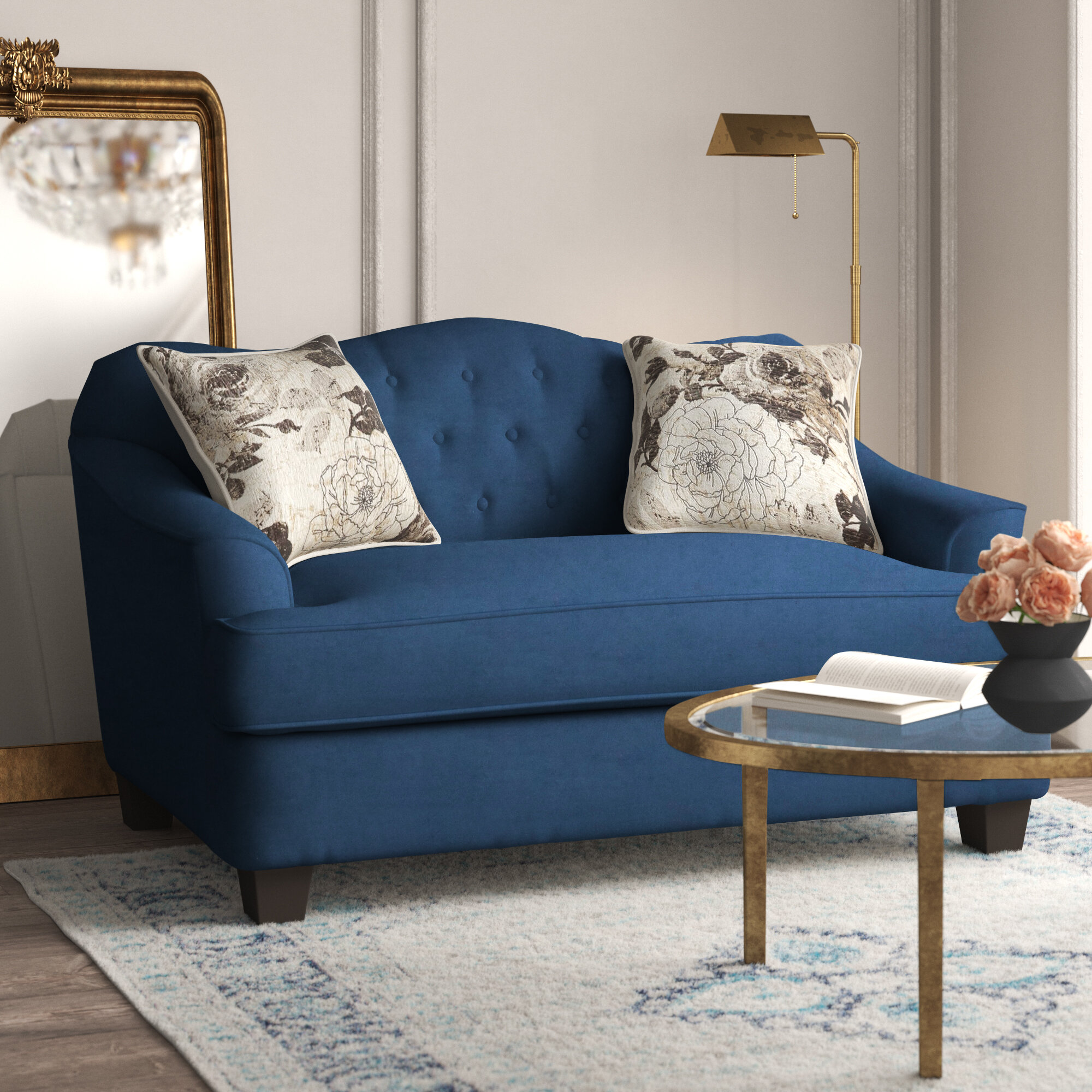 Kelly Clarkson Home Beverly 62 Recessed Arm Loveseat Reviews Wayfair