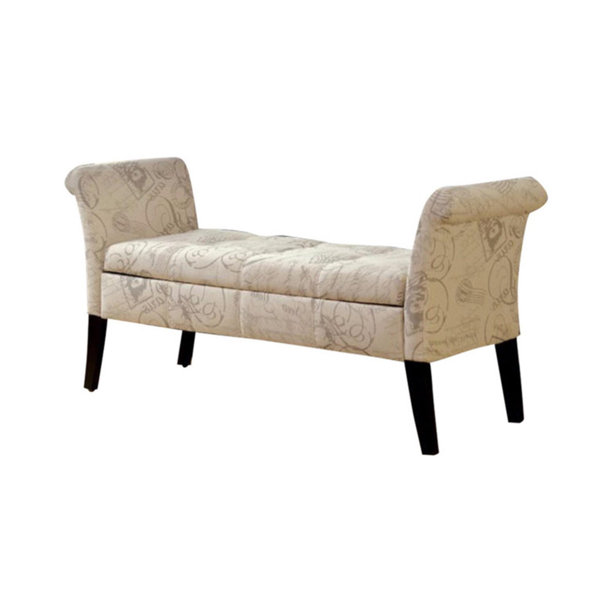 One Allium Way Araceli Upholstered Storage Bench Wayfair Ca