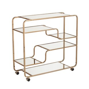 Thayer Bar Cart by Everly Quinn Great price