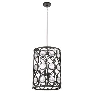 Harrietta 4-Light Cylinder Pendant by Bungalow Rose