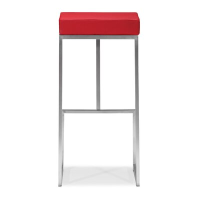 Excellent Wade Logan Jamal 30 Bar Stool Color Red Cjindustries Chair Design For Home Cjindustriesco