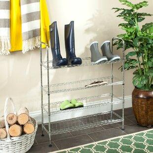 Rebrilliant Adjustable 4-Tier Shoe Rack