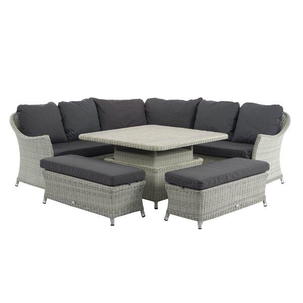 Sol 72 Outdoor Ridgewood 9 Seater Rattan Corner Sofa Set ...