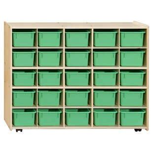 Reviews 25 Compartment Cubby with Trays ByWood Designs