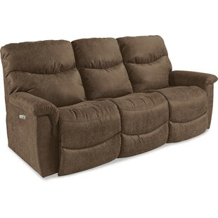 Shop James La-Z-Time® Power-Recline with Power Headrest Full Reclining Sofa by La-Z-Boy