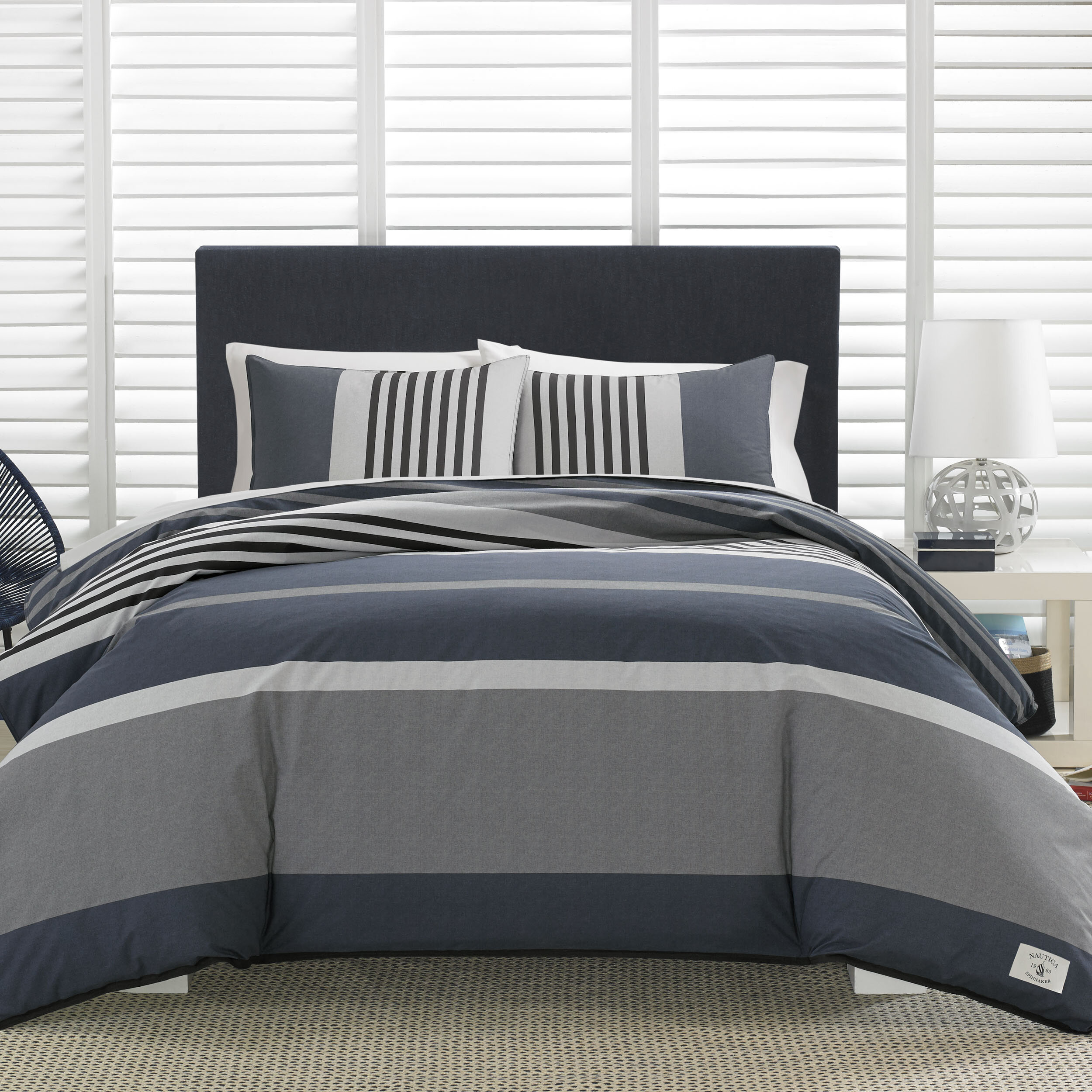 Nautica Rendon 100 Cotton Reversible Comforter Set Reviews Wayfair