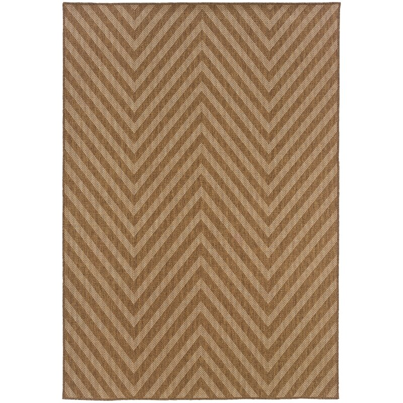 Beachcrest Home Stowe Chevron Brown Indoor Outdoor Area Rug Reviews Wayfair