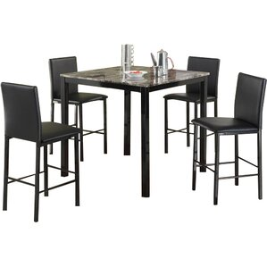Ariandne Faux Marble 5 Piece Counter Height Dining Set by Red Barrel Studio