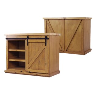 Uli Wood Kitchen Island with Butcher Block Top Gracie Oaks