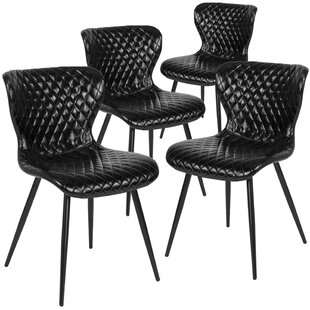 Maggio Upholstered Dining Chair (Set of 4) (Set of 4) by Wrought Studio