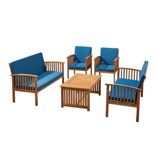 Olympia 5 Piece Sofa Seating Group with Cushions