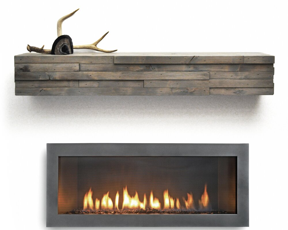 Dogberry collections modern fireplace mantel shelf reviews wayfair - Beneficial contemporary fireplace mantel shelves ...