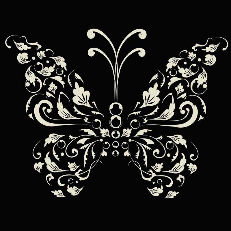 Single Butterfly Paper Print