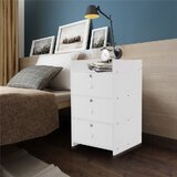 3 - Drawer Nightstand in White