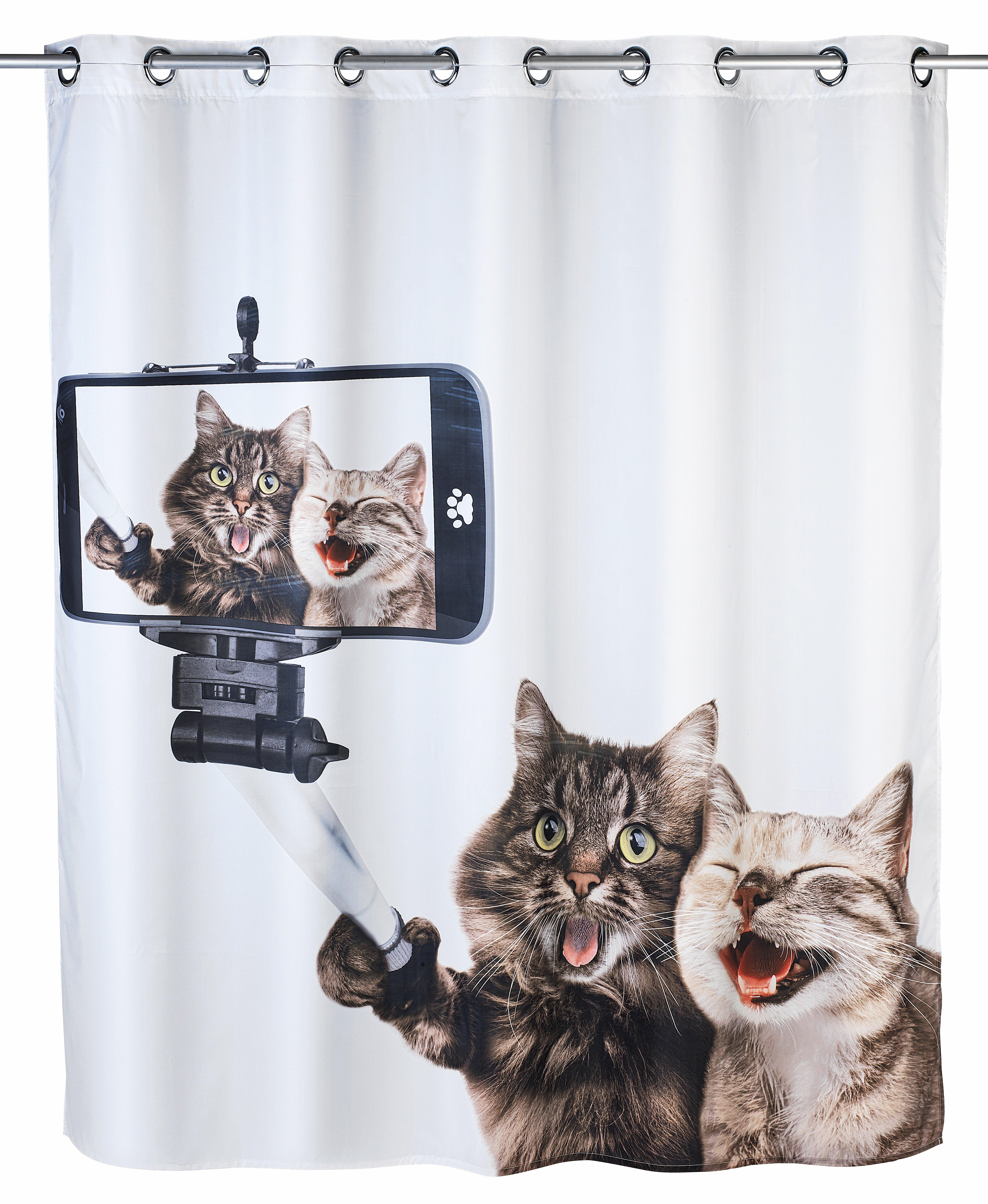 Wenko Selfie Cat Shower Curtain & Reviews | Wayfair.co.uk