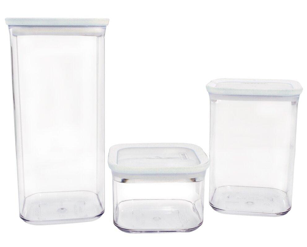 frigidaire 3 piece storage kitchen canister set reviews wayfair default name