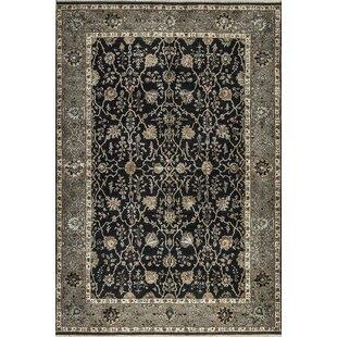 Order One-of-a-Kind Marla Handwoven Wool Black/Gray Indoor Area Rug ByBokara Rug Co., Inc.