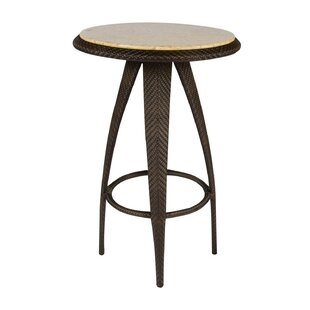 All-Weather Bali Bar Table with Stone Top