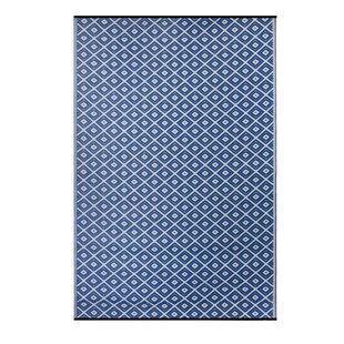 Premier Home Hand-Woven Blue Indoor/Outdoor Area Rug