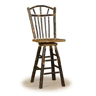 Ulloa 24 Swivel Wagon Wheel Bar Stool Millwood Pines