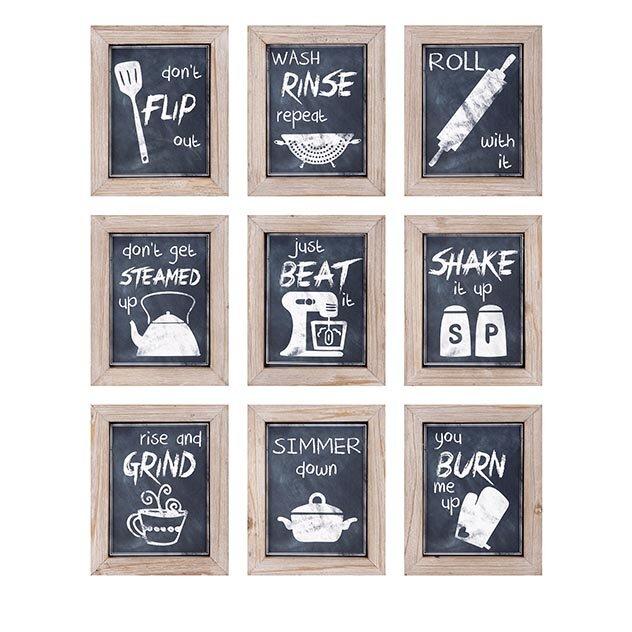 Kitchen Wall Painting Designs: Woodland Imports 9 Piece Kitchen Inspirations Wall Decor